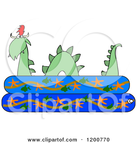 Preview Clipart u0026middot; Loch Ness Monster Plesiosaur Dinosaur In A Kiddie Swimming Pool ...