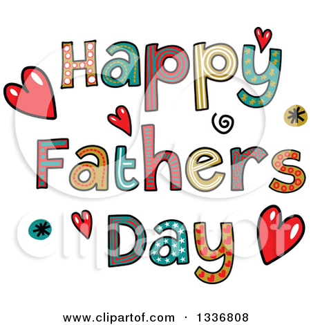 Preview Clipart u0026middot; Patterned Sketched Happy Fathers Day Text With Hearts And Spirals by Prawny