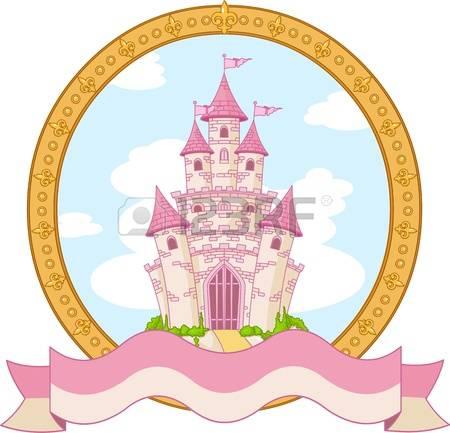 princess castle: Princess magic castle label design