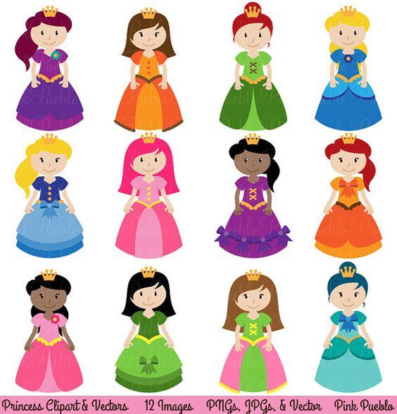 Princess Clipart Clip Art Fairytale Clip Art Clipart by PinkPueblo, $6.00
