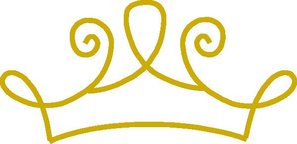 Princess Crown Gold Clip Art At Clker Com Vector Clip Art Online