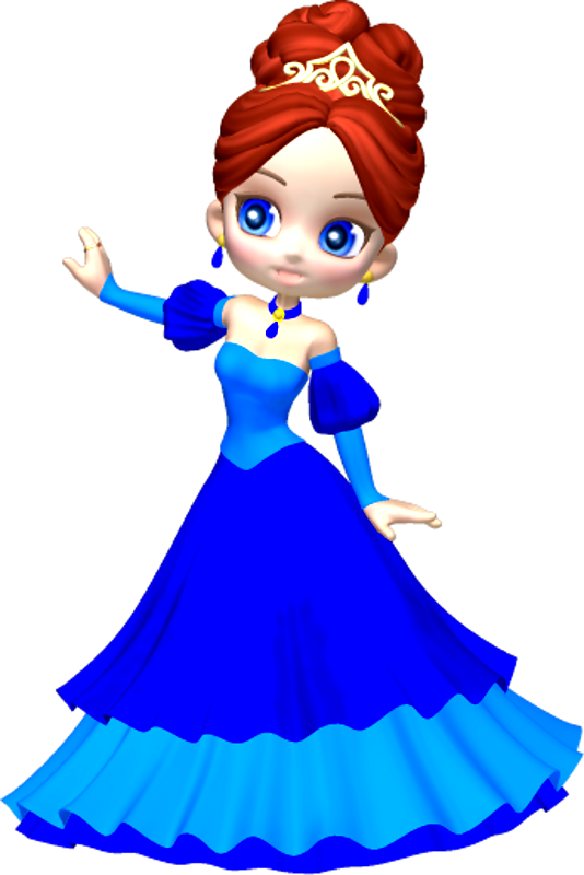 Princess In Blue Poser Png Clipart 9 By Clipartcotttage On