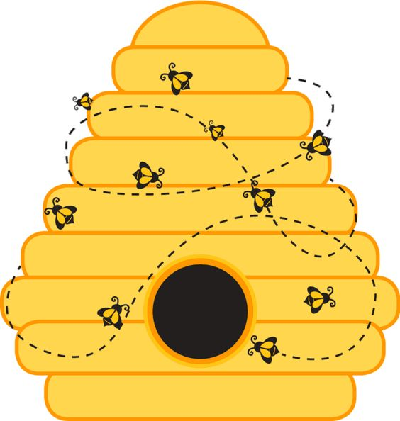 Printable Beehive Clipart. Bee Hive Template Printable .