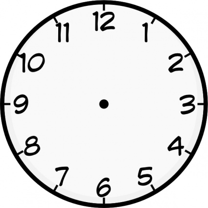 ... Printable Clock Face Without Hands - ClipArt Best ...