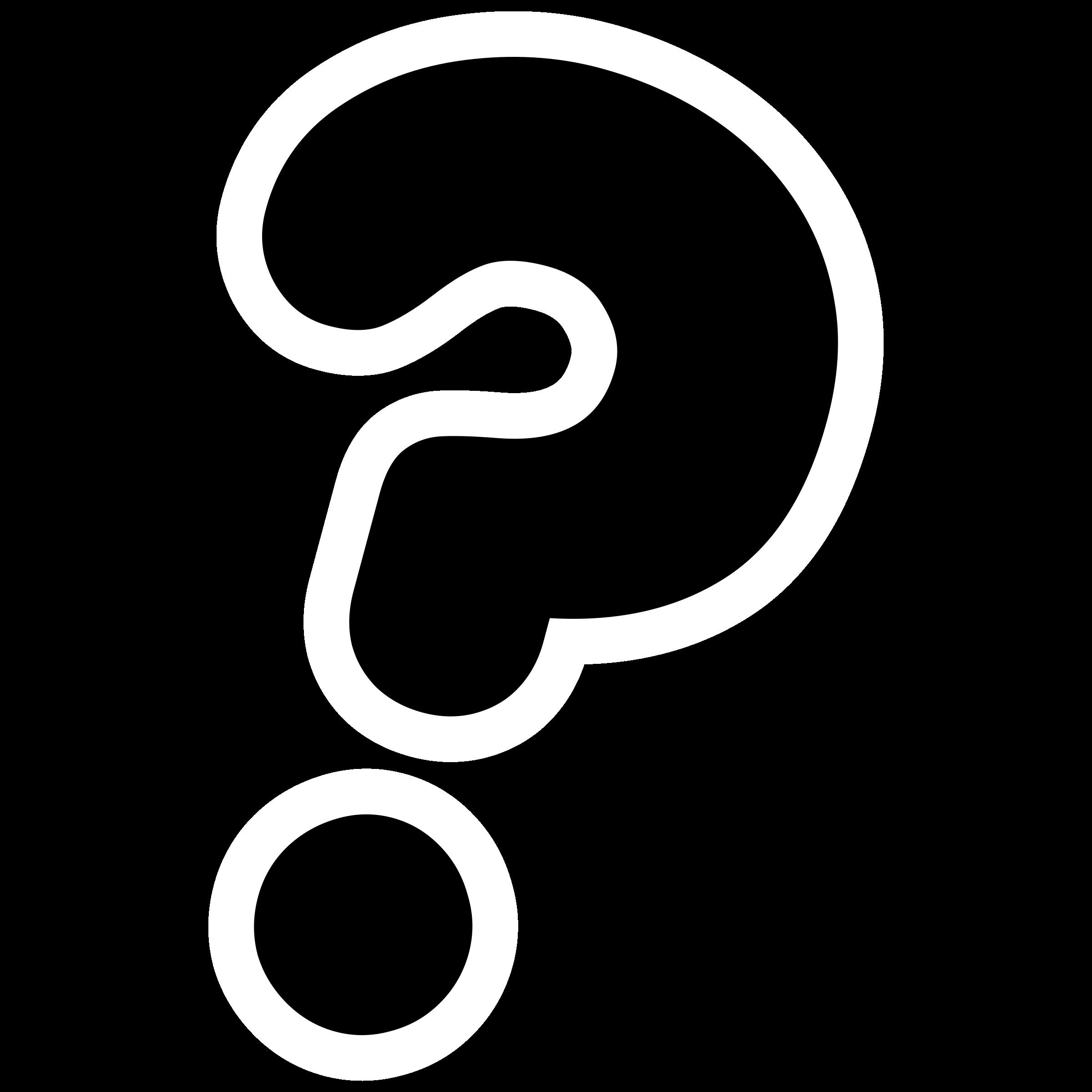 Printable question mark clipart 2 .