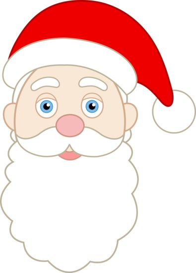 printable santa face pattern | Face of Santa Claus - Free Clip Art | holidays | Pinterest
