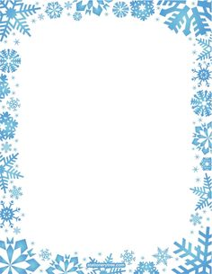 Printable snowflake stationery and writing paper. Free PDF downloads at  http://stationerytree