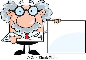 ... Professor Showing A Blank Sign - Scientist Or Professor.