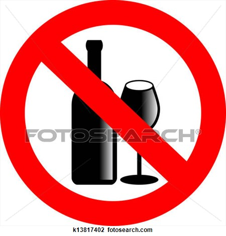 Alcohol Prohibited Sign Clipart #1