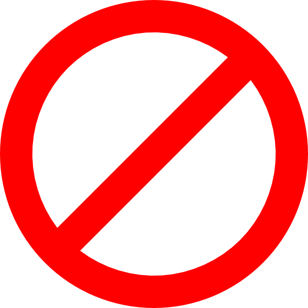 Prohibited sign clipart
