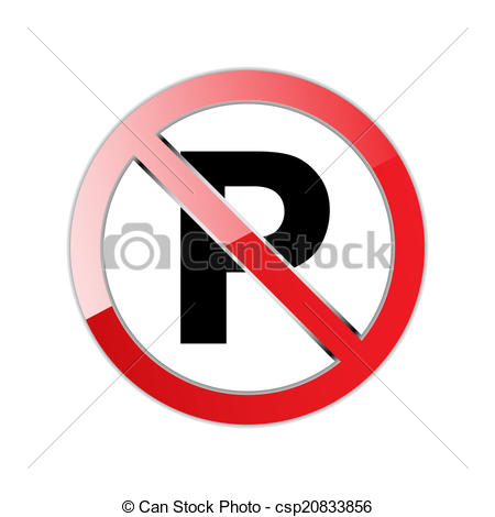 Parking prohibited. Sign - csp20833856