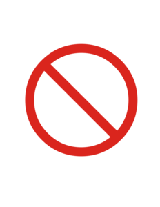 Prohibited Sign Clipart #1