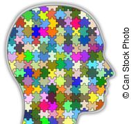 ... Psychology head - Illustration of a head full of colourful.