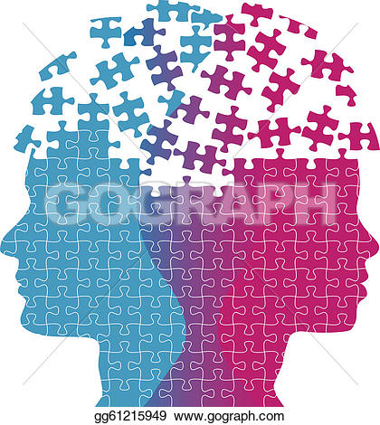 psychology, human, exclusion, crush u0026middot; Man woman faces mind thought problem puzzle