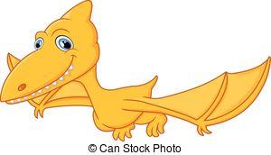 ... Pterodactyl cartoon - vector illustration of Pterodactyl.