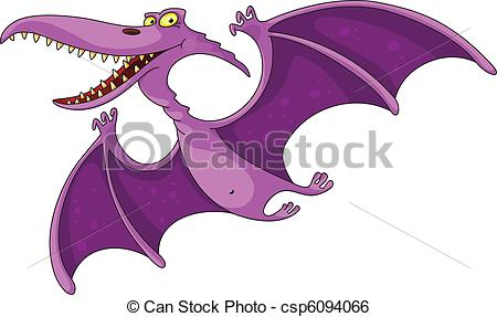 ... pterodactyl - illustration of a comic pterodactyl