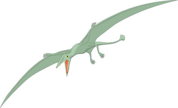 Pterodactyl With Fangs Clip Art