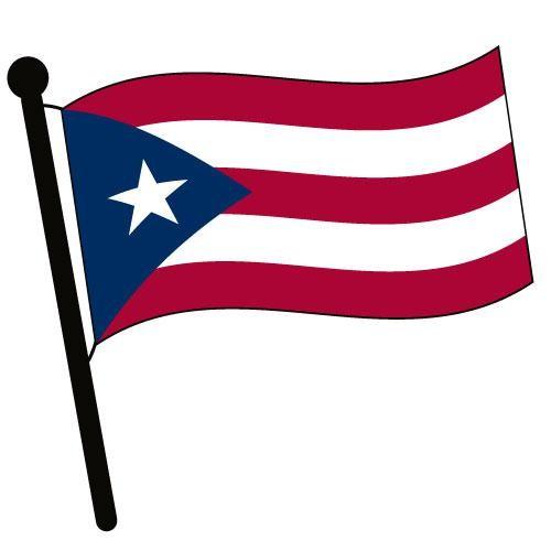 Puerto Rico Waving Flag Clip Art