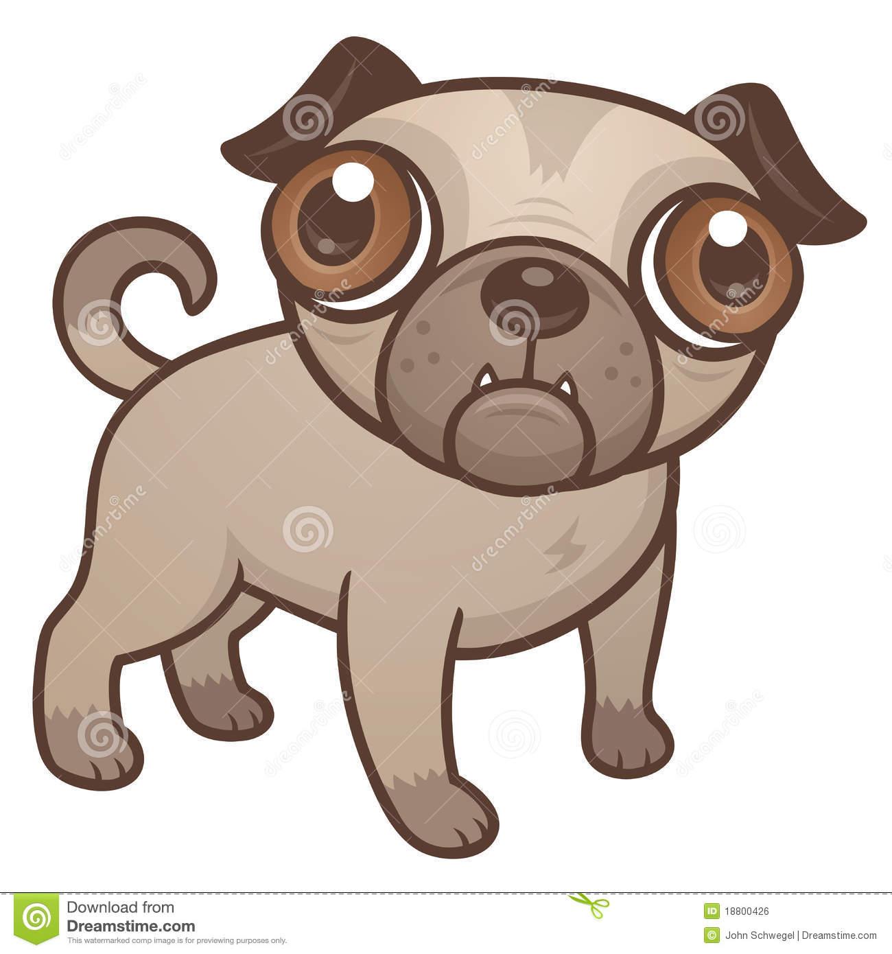 Pug Puppy Cartoon Royalty Free Stock Image