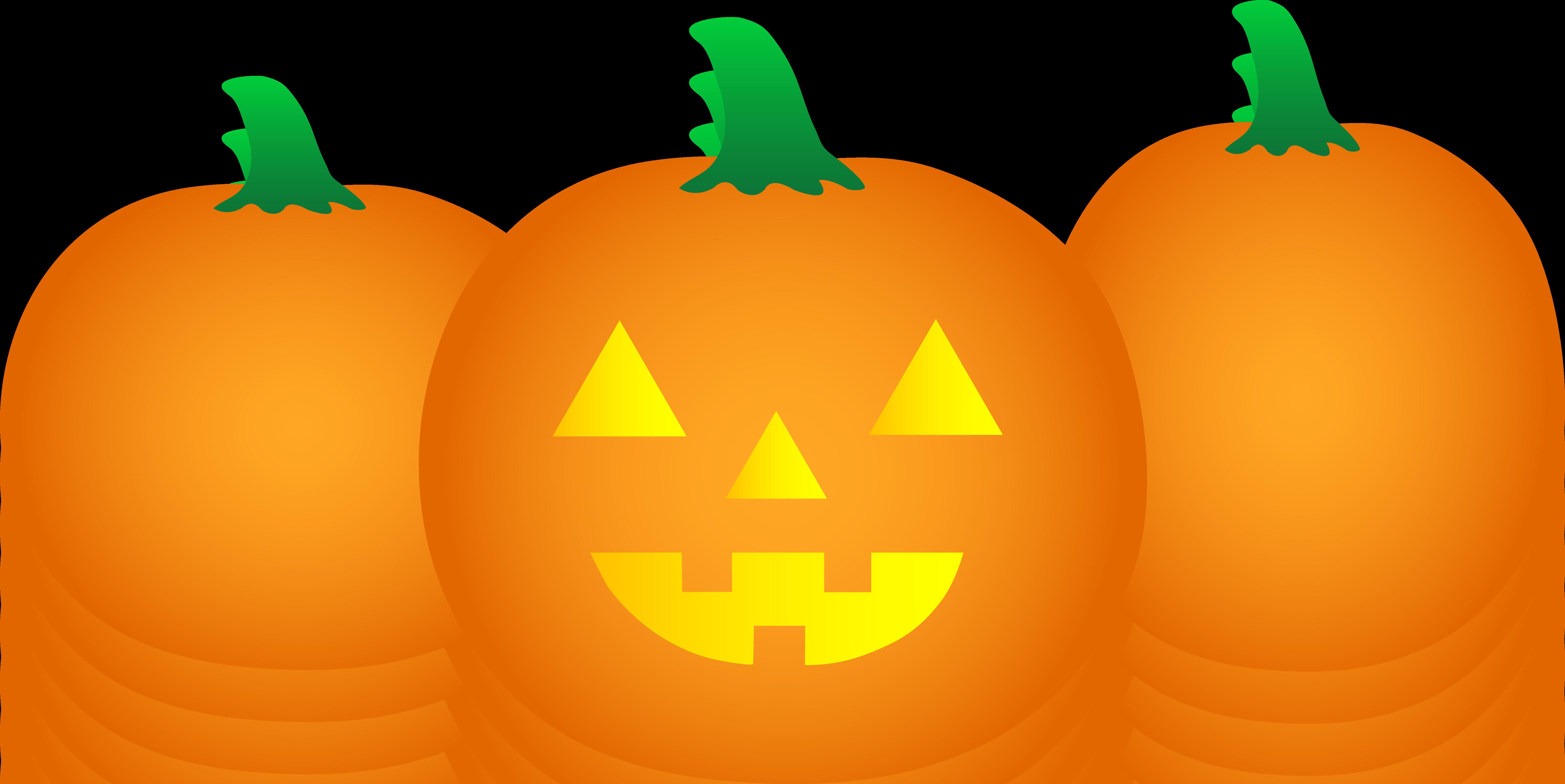Pumpkin Border Clipart .