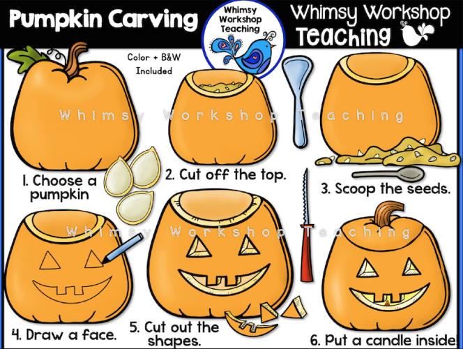 Pumpkin Carving clip art set