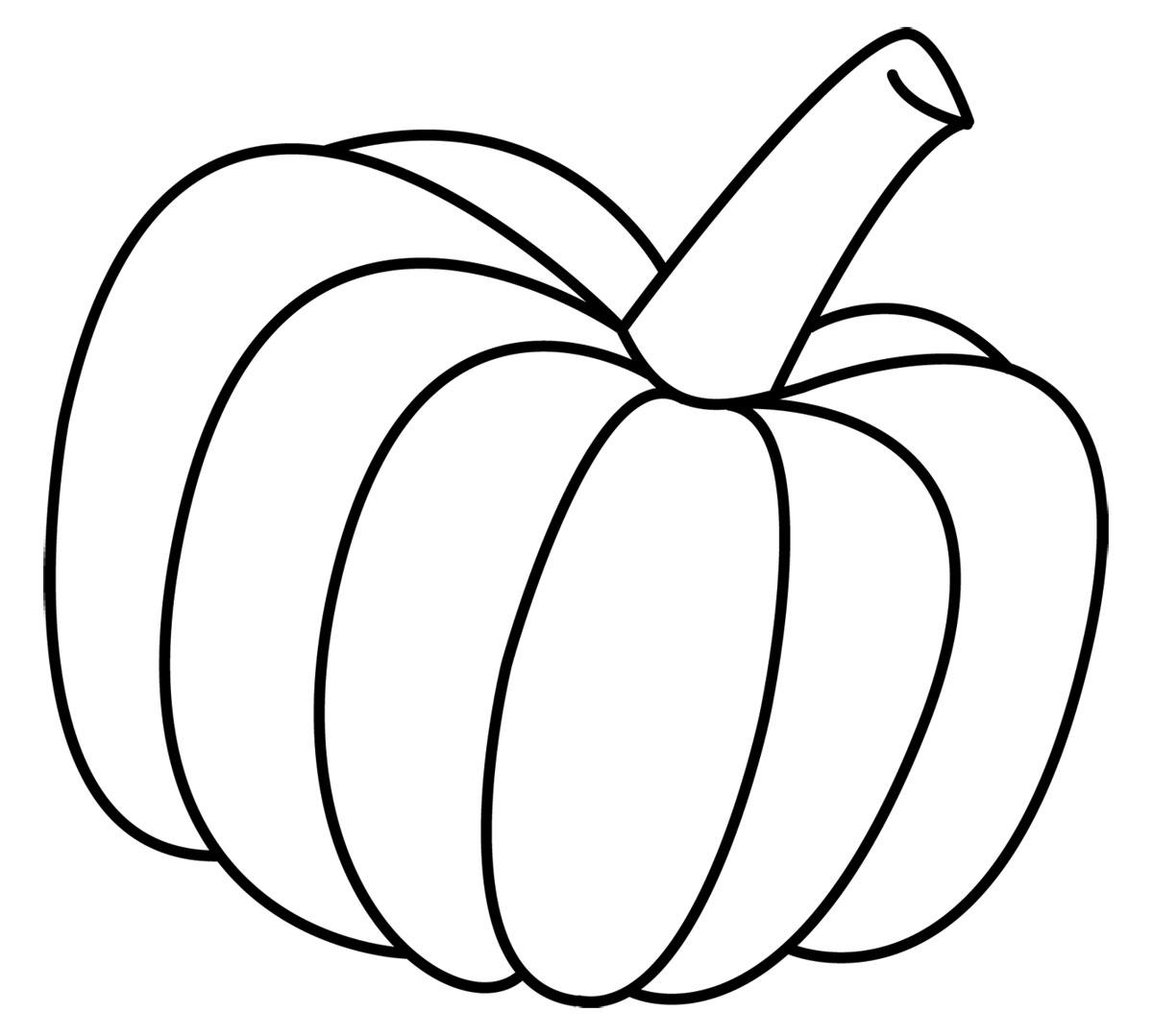 Pumpkin Clip Art Black White Free Clipart Images