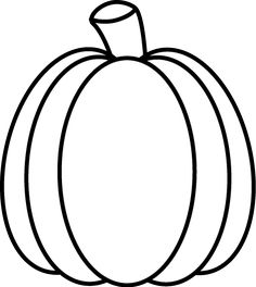 Black and White Autumn Pumpkin Clip Art - Black and White Autumn Pumpkin  Image