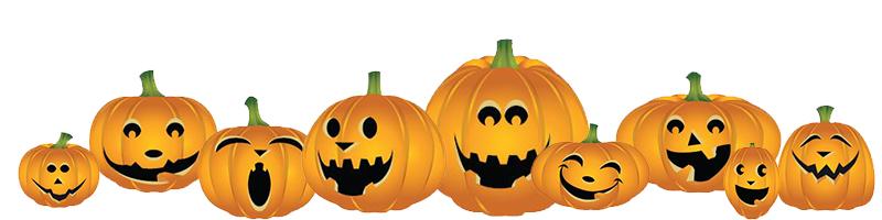 Pumpkin patch fall pumpkin border clipart