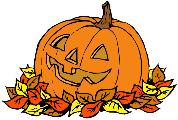 Clip Art Pumpkins Pumpkin In Leaves Clip Art Pumpkins Clipart Template