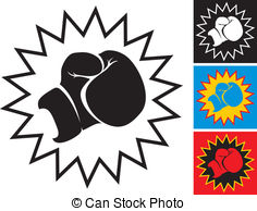 ... Punch in boxing glove - Illustration punch in boxing glove