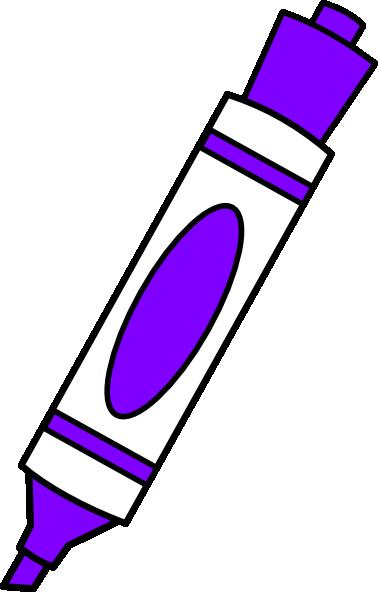 Purple Coloring Marker Clip Art At Clker Com Vector Clip Art Online