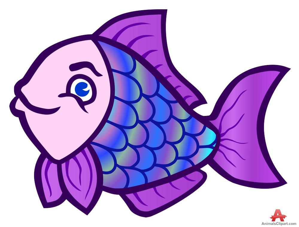 purple fish clipart