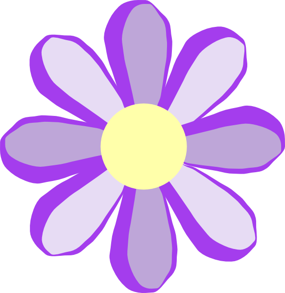 Purple Flower Clip Art At Clker Com Vector Clip Art Online Royalty