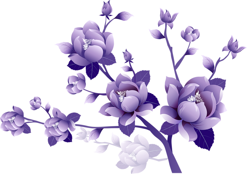 Purple Flower Clipart Clipart Best