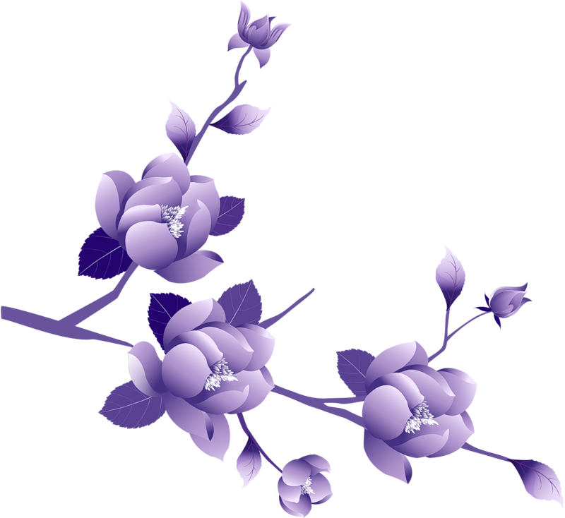 Purple Flower Clipart Cool Eyecatching Tatoos