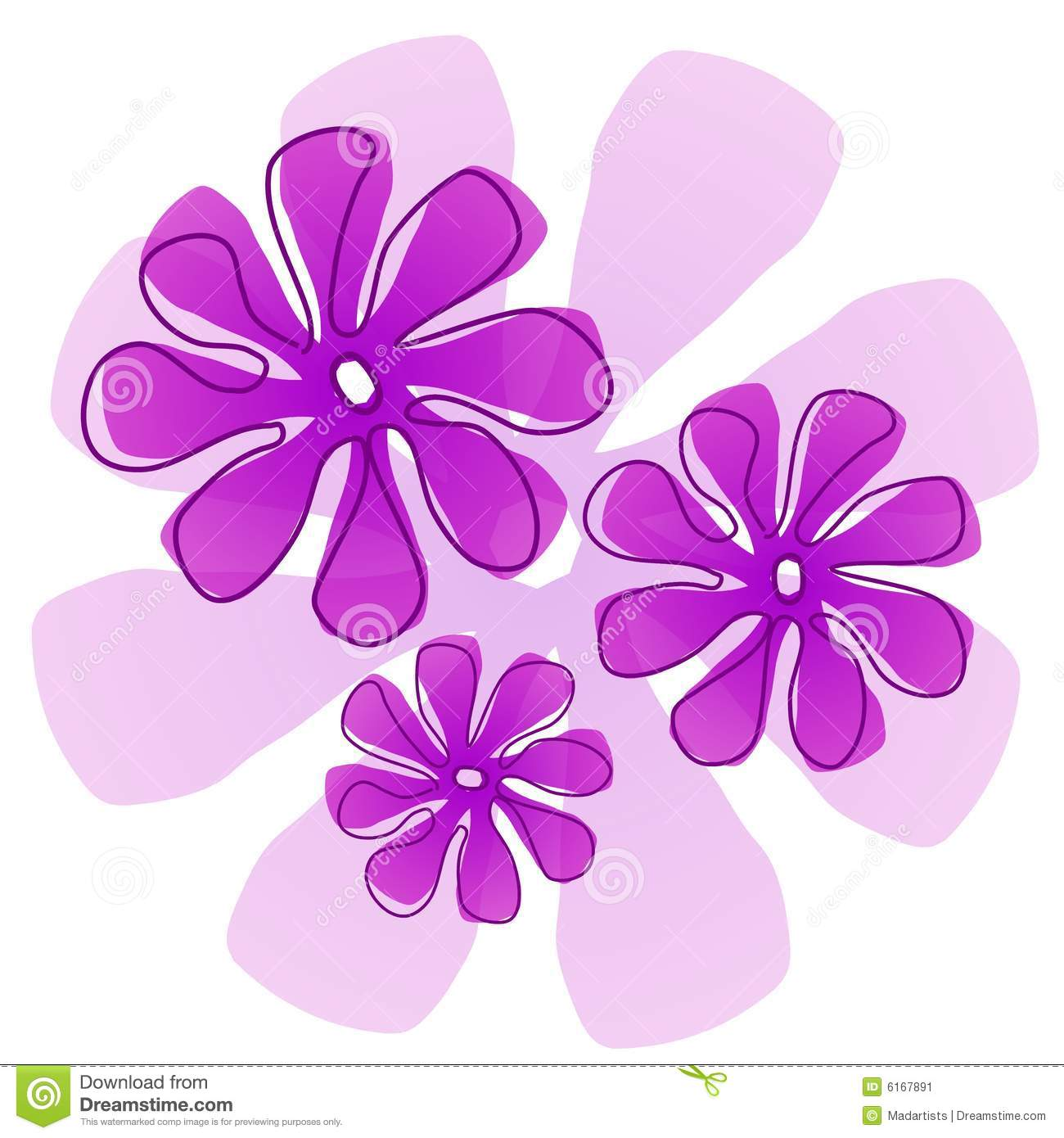Purple Flowers Clip Art