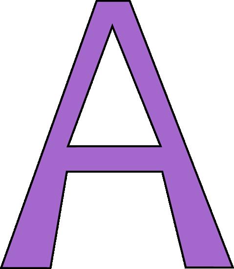 Purple Letter A