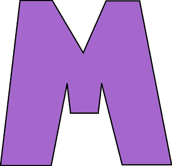 Purple Letter M