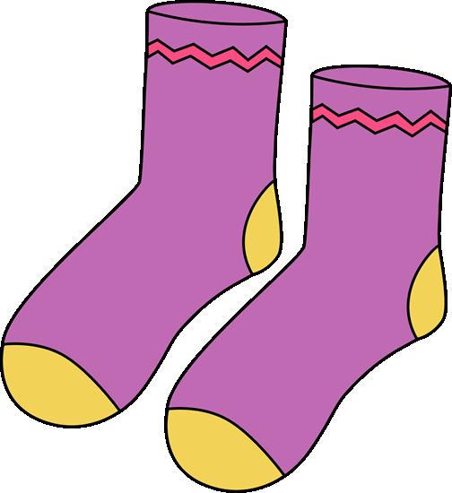 Purple Pair of Socks