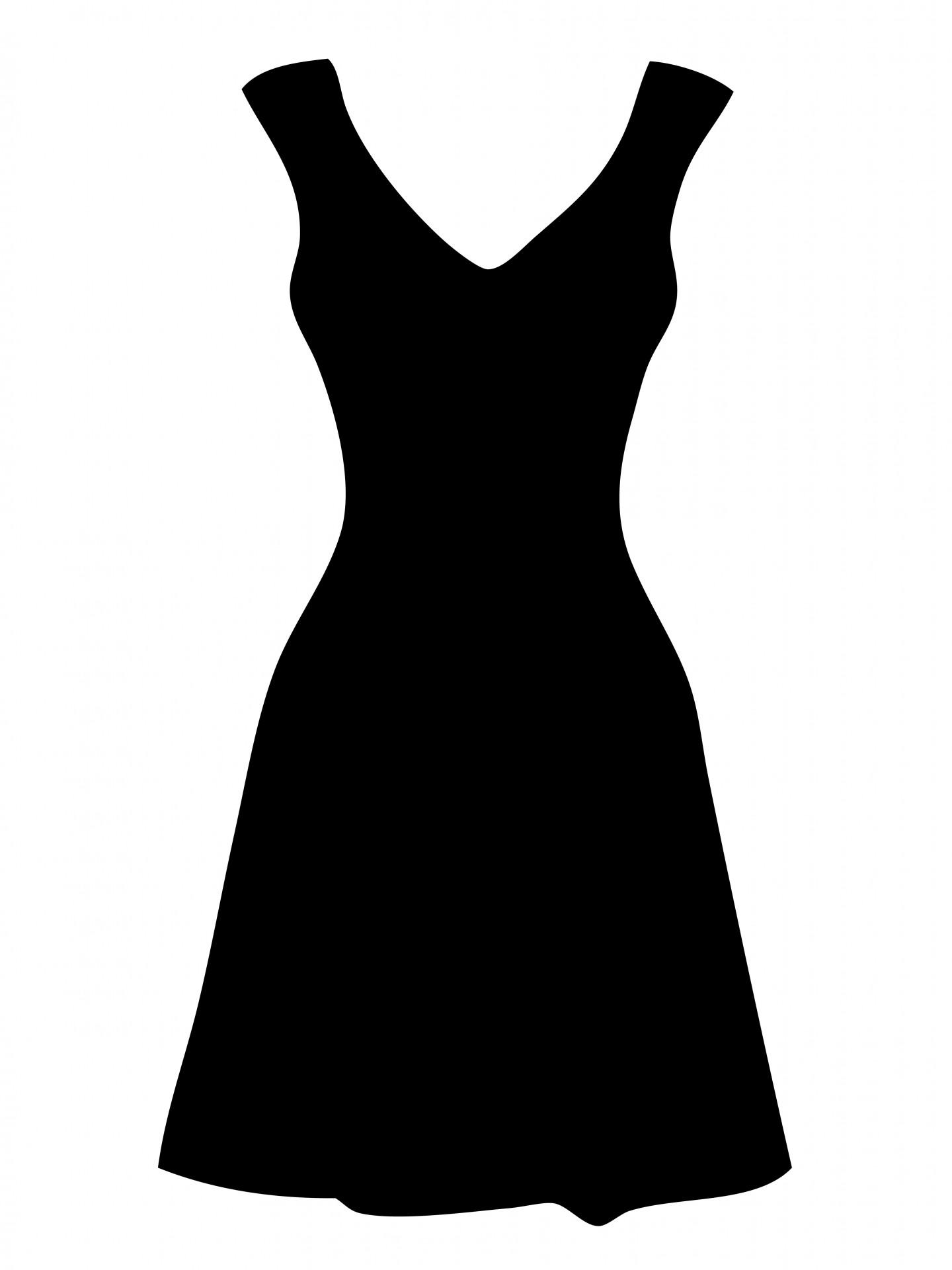 Purple Pirate Dress Clip Art. Silhouette Dress