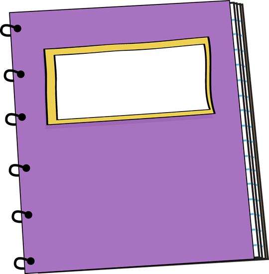 Purple Spiral Notebook Clip Art Image Purple Spiral Notebook With A