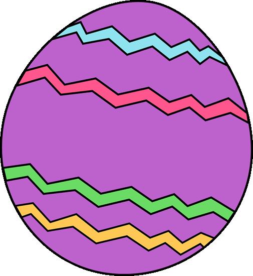 Purple Zig Zag Easter Egg