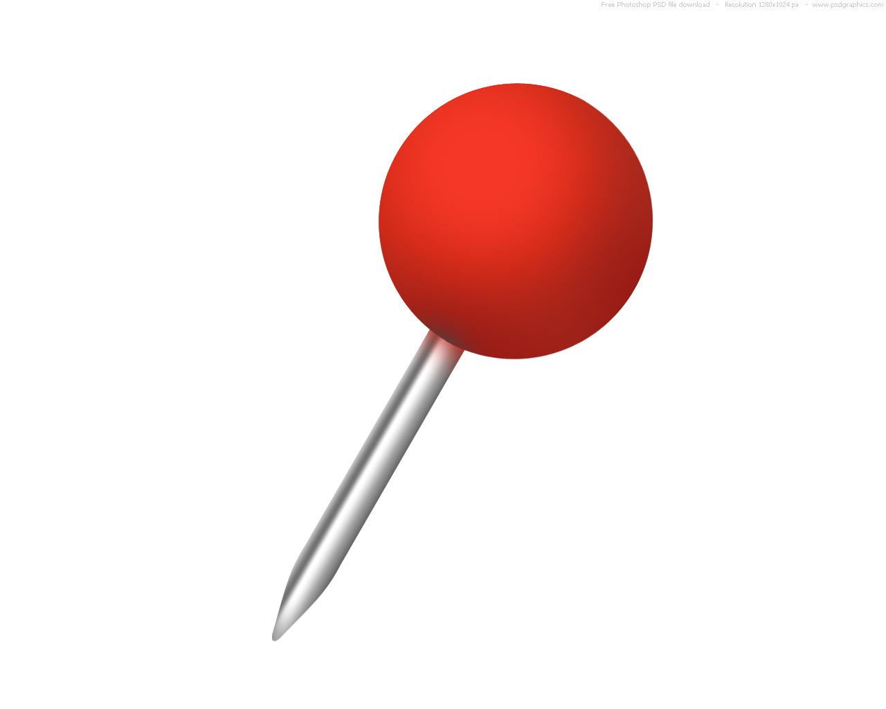 Push pin clipart hostted 2
