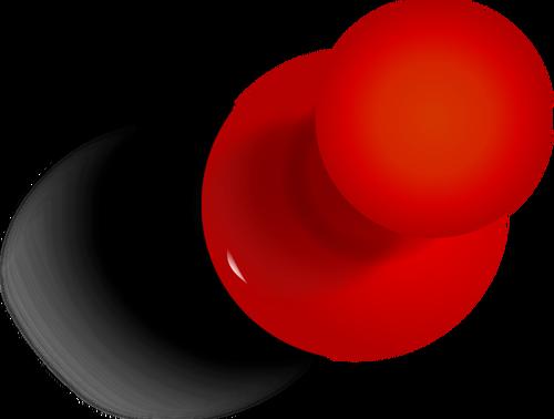 Push pin vector clip art