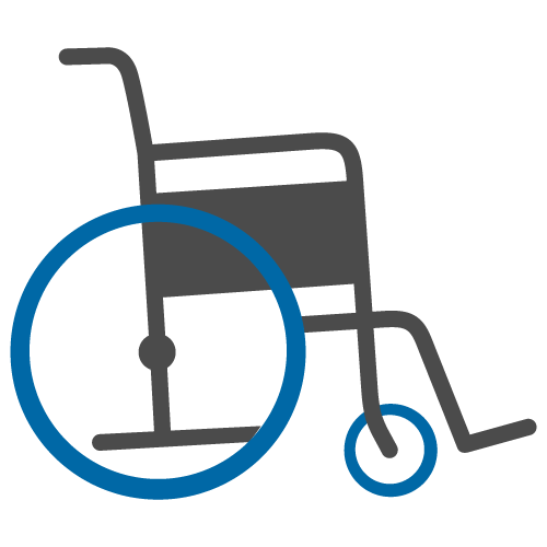 Pushing wheelchair clipart image