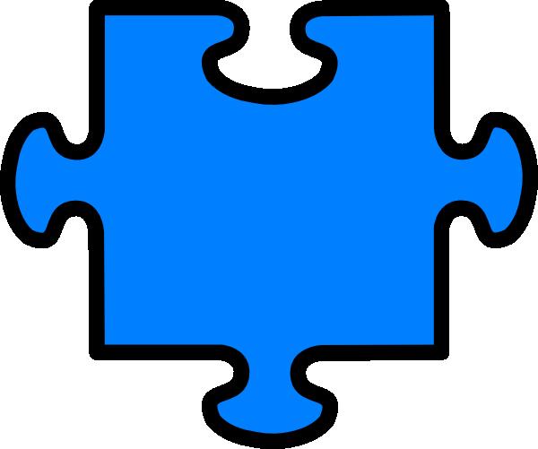Puzzle Outline Clip Art At Clker Com Vector Clip Art Online Royalty
