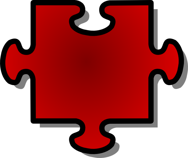 . hdclipartall.com free vector Jigsaw Red Puzzle Piece clip art