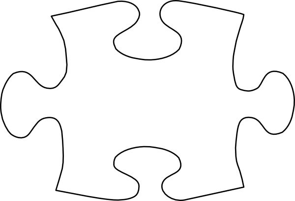 Puzzle Piece Template | Jigsaw White Puzzle Piece No Shadow clip