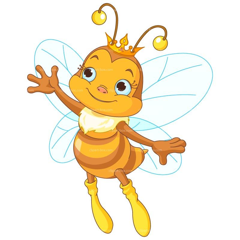 Queen Honey Bee Clipart #1