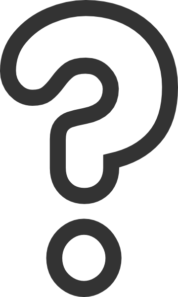 Transparent Question Mark Clipart #1
